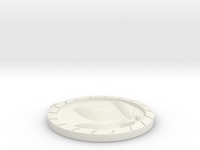 Anna Medallion in White Natural Versatile Plastic