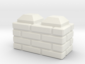 Straight_Brick_Block in White Natural Versatile Plastic