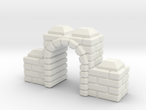 Straight_Brick_Gate in White Natural Versatile Plastic