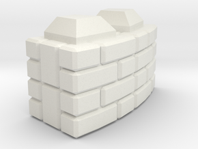 Rounded_Brick in White Natural Versatile Plastic