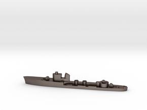 Italian Lince torpedo boat 1:1800 WW2 in Polished Bronzed-Silver Steel