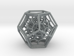120-Cell in Polished Metallic Plastic