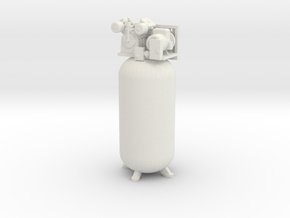 1/50th Large Vertical Shop type Air Compressor in White Natural Versatile Plastic