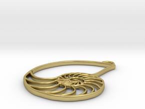 Nautilus Pendant in Natural Brass