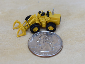 980 Wheel Loader with logging grapples  in Smooth Fine Detail Plastic