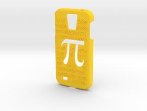 Galaxy S4 case - π 3,14 in Yellow Processed Versatile Plastic