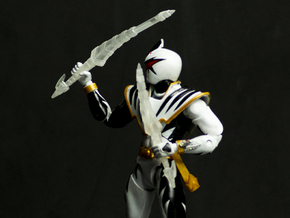 Dinothunder White Accessory - Drago Sword in Smooth Fine Detail Plastic