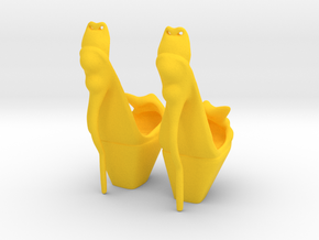 Bony Shoes in Yellow Processed Versatile Plastic: Small