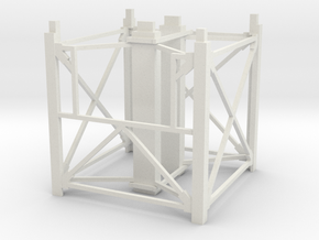 """1/64th """"S"""" Scale Grain Leg/Tower 10ft Top Section in White Natural Versatile Plastic"""