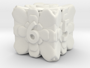 Flower Dice - Dice Custom Built For RPGs in White Natural Versatile Plastic