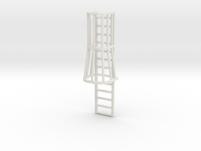 """1/64 """"S"""" Scale Ladder Cage with Taper   in White Natural Versatile Plastic"""