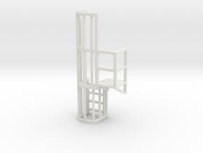 Ladder Cage Platform Right in White Natural Versatile Plastic