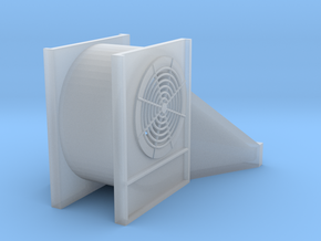 "1/64 ""S"" Scale Centrifugal Grain Bin Fan in Smooth Fine Detail Plastic"