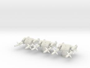 1/192 USN MK12 GMLS Set x3 in White Natural Versatile Plastic