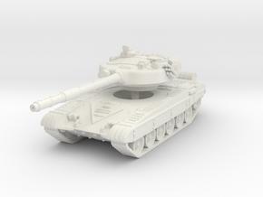 T-72 B late turret 1/76 in White Natural Versatile Plastic