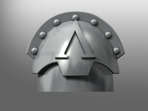 Honoris pattern shoulder pads: Lambda Legion in Smooth Fine Detail Plastic: Small