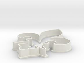 Fleur de lis Cookie Cutter in White Natural Versatile Plastic