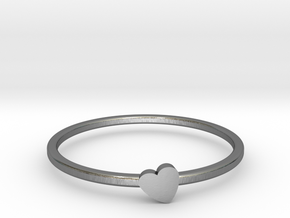 Letter Heart in Polished Silver: 7 / 54