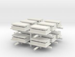 Where Eagles Dare Bunker (x12) in White Natural Versatile Plastic