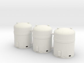 1/50th Industrial Hazardous Waste Containers (3) in White Natural Versatile Plastic