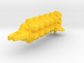 Cardassian Military Freighter 1/1400 in Yellow Processed Versatile Plastic