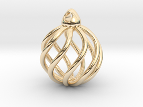 Spherical earrings (from $7.48) in 14k Gold Plated Brass