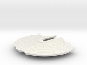 1/1000 USS Ranger Saucer in White Natural Versatile Plastic