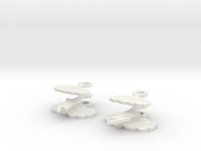 Stormy Day Earrings in White Natural Versatile Plastic