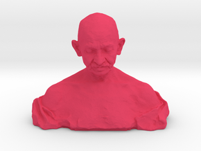 Gandhi by Ram Sutar in Pink Processed Versatile Plastic: Medium