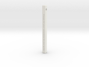 "Vertical Bar Customized Pendant ""Always Let Your"" in White Natural Versatile Plastic"