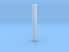 "Vertical Bar Customized Pendant ""I can do hard"" in Smooth Fine Detail Plastic"