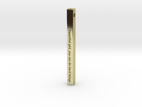 "Vertical Bar Customized Pendant ""Beautiful girl yo in 18k Gold Plated Brass"