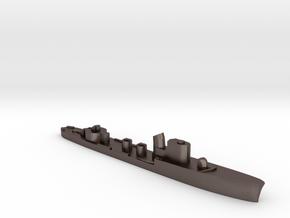 Italian Partenope torpedo boat 1:3000 WW2 in Polished Bronzed-Silver Steel
