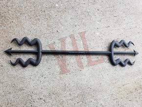 3TEETH Divine Trident - VIL - LIMITED EDITION in Matte Black Steel