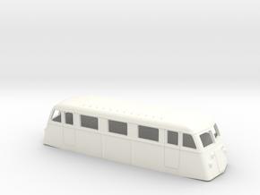 Swedish railcar Yd H0-scale in White Processed Versatile Plastic