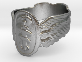 Good Omens Signet Ring in Natural Silver: 5.75 / 50.875