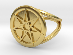 Alternative Fairy Star in Polished Brass: 7 / 54