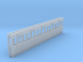 GWR carriage sides S3  third in Smooth Fine Detail Plastic
