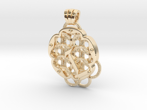 Chain Mail Pendant L in 14k Gold Plated Brass