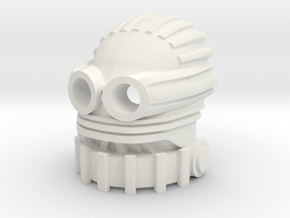 Great Mask of Biomechanics in White Natural Versatile Plastic