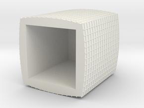 BASTION-1UD-H0 in White Natural Versatile Plastic