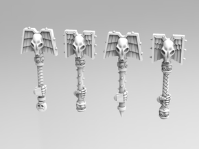 Wolf Priest Rods of Office - Next Gen Size in Smooth Fine Detail Plastic