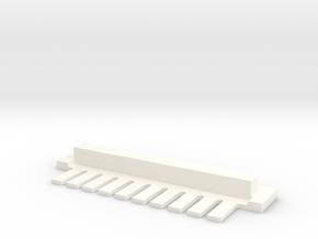 10 Tine Gel Comb in White Processed Versatile Plastic