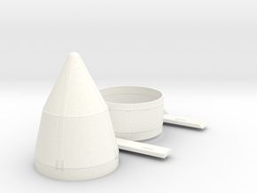 1:100 Scale Skylab Shroud fixins in White Processed Versatile Plastic