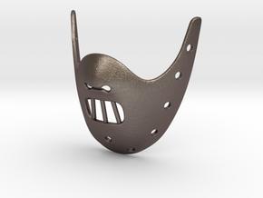HANNIBAL Mask Pendant ⛧VIL⛧ in Polished Bronzed-Silver Steel