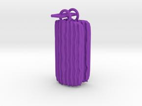 Groovy Bend earrings in Purple Processed Versatile Plastic