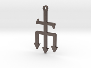 Exu Trident in Polished Bronzed-Silver Steel