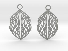Stream earrings in Gray PA12: Small