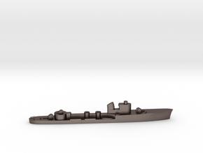 Italian Castore torpedo boat 1:1800 WW2 in Polished Bronzed-Silver Steel