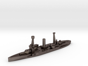 Spanish Jaime I battleship 1937 1:1800 in Polished Bronzed-Silver Steel